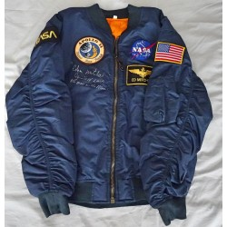 Ed Mitchell Apollo 14 genuine authentic autograph signed jacket