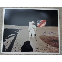 Edgar Mitchell Apollo space genuine authentic autograph signed photo