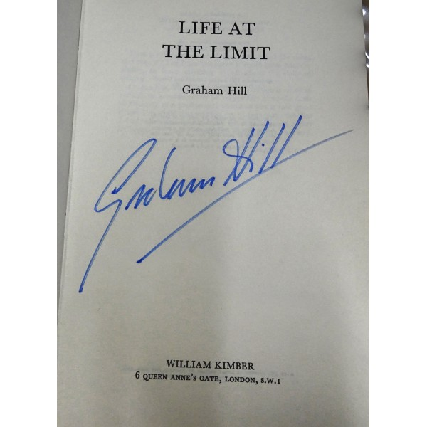 Graham Hill F1 Lotus BRM genuine autograph authentic signed book