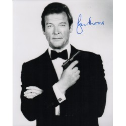 James Bond Roger Moore genuine authentic autograph signed photo