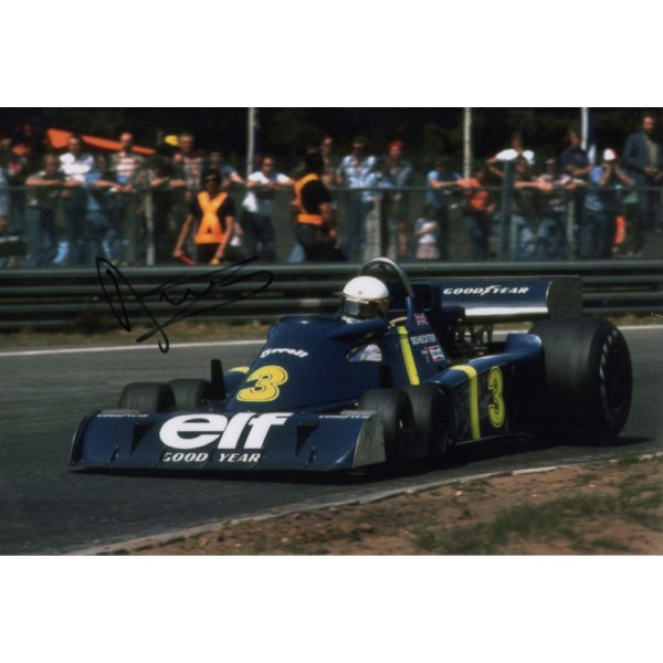 Jody Scheckter Tyrrell P34 F1genuine signed authentic signature photo