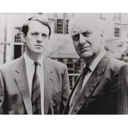 John Thaw Kevin Whatley Morse authentic genuine authentic genuine signed photo