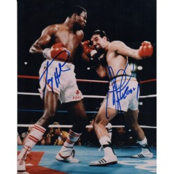 Larry Holmes Gerry Cooney boxing genuine authentic autograph signed photo