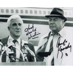 Leslie Nielson George Kennedy Naked Gun authentic genuine signed photo