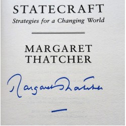Margaret Thatcher authentic genuine signed autograph book 2