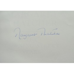 Margaret Thatcher genuine authentic signed autograph book