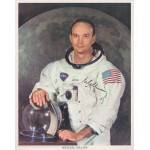 Michael Collins Apollo 11 genuine signed authentic signature litho COA UACC