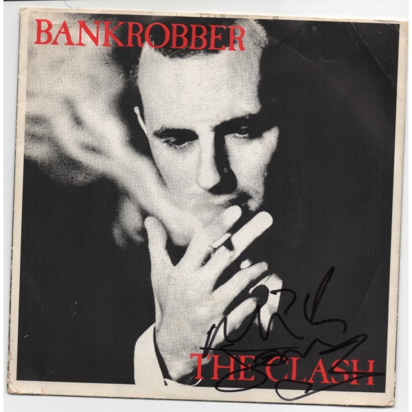 Mick Jones Clash Bankrobber  authentic genuine signed single COA UACC