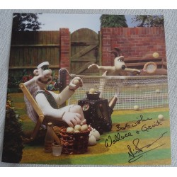 Nick Park Wallace and Gromit authentic genuine signed image COA UACC