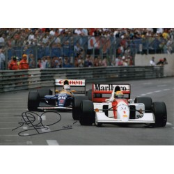 Nigel Mansell F1 Williams Red 5  authentic genuine signed photo COA AFTAL
