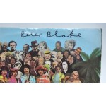 """Peter Blake Sgt Pepper authentic genuine signature signed 12"""" vinyl record sleeve"""