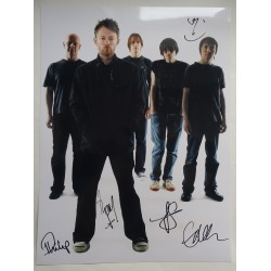 Radiohead Thom Yorke etc genuine authentic autograph signed photo