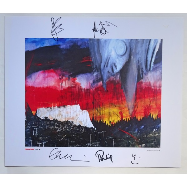 Radiohead Thom Yorke Stanley Donwood genuine authentic autograph signed image