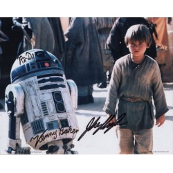 Star Wars Kenny Baker Jake Lloyd genuine authentic autograph signed photo.