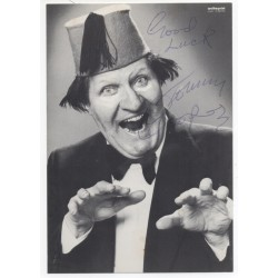 Tommy Cooper comedy magic genuine authentic autograph signed postcard