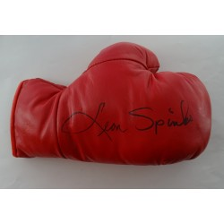 Boxing Leon Spinks signed original genuine autograph authentic glove