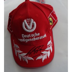 Michael Schumacher F1 Ferrari authentic genuine signed cap COA UACC RACC