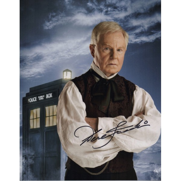 Derek Jacobi Dr Doctor Who authentic genuine signed image COA UACC