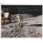 Charlie Duke Apollo 16 moon genuine authentic signed autograph image