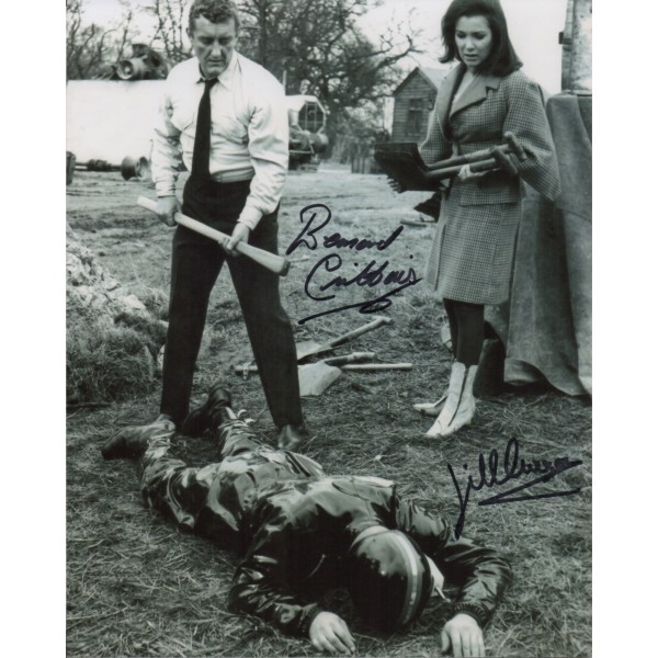 Bernard Cribbins Jill Curzon Dr Who genuine signed authentic signature photo