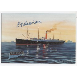 RMS Titanic E E Haisman survivor genuine authentic signed autograph FDC 3