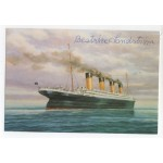 RMS Titanic Survivor Beatrice Lindstrom signed genuine signature postcard