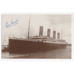 RMS Titanic Survivor Eva Hart signed genuine signature autograph