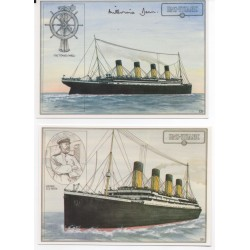 RMS Titanic authentic signed autograph postcard by Survivor Millvina Dean