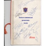 Rocky Marciano boxing authentic genuine signature signed menu