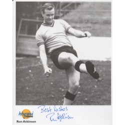 Ron Atkinson Man United football authentic genuine signed autograph photo