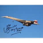 Concorde Mike Bannister genuine signed photo UACC AFTAL COA 6