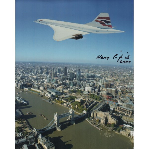 Concorde Harry Linfield authentic genuine signed autograph photo