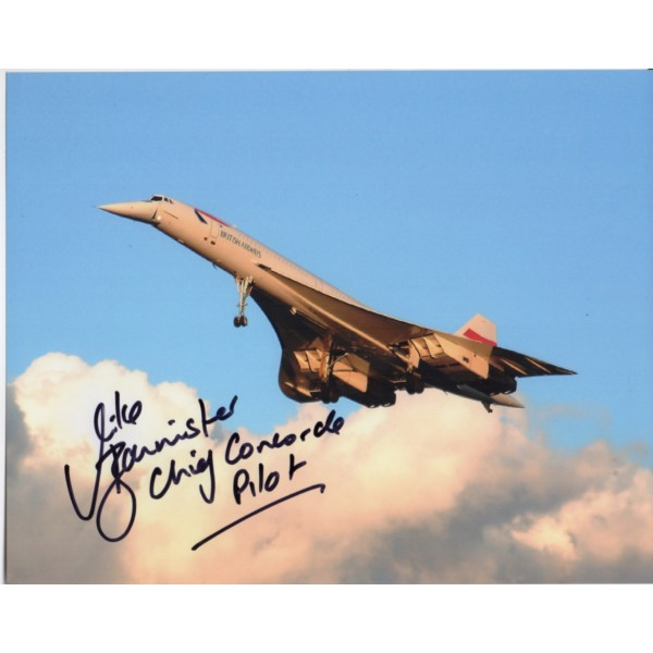 Concorde Mike Bannister authentic signed autograph photo 1
