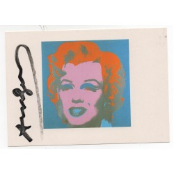 Andy Warhol Marilyn Monroe genuine signed signature postcard COA UACC