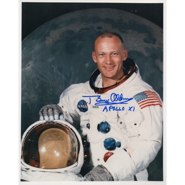 Buzz Aldrin Apollo 11 space genuine authentic signed autograph photo