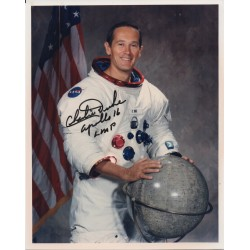 Charlie Duke Apollo 16 genuine authentic autograph signed photo