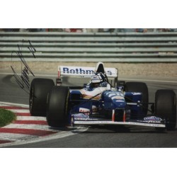 Damon Hill Williams F1 signed genuine signature authentic photo display