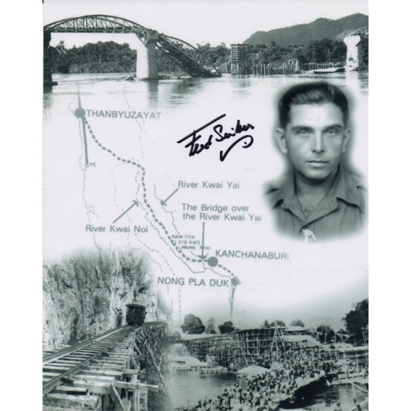 Fred Seiker Bridge on the Rover Kwai genuine authentic autograph signed photo.