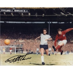 Geoff Hurst WC1966 genuine signed authentic signature photo COA