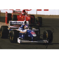 Jacques Villeneuve F1 Indy authentic genuine signed image COA UACC AFTAL