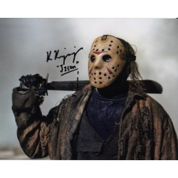 Ken Kirzinger Jason V Freddy signed genuine signature autograph display