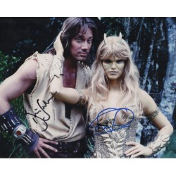 Kevin Sorbo Sam Sorbo Hercules signed genuine signature photo COA