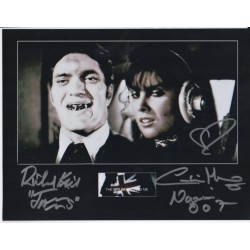 Richard Kiel Caroline Munro James Bond authentic genuine signed photo COA