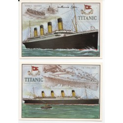 RMS Titanic authentic signed autograph postcards Survivor Millvina Dean