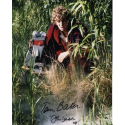 Tom Baker John Leeson Doctor Who signed genuine authentic signed photo