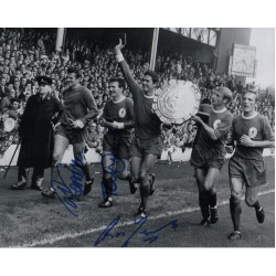 Tommy Lawrence Smith Ron Yeats signed original genuine authentic photo