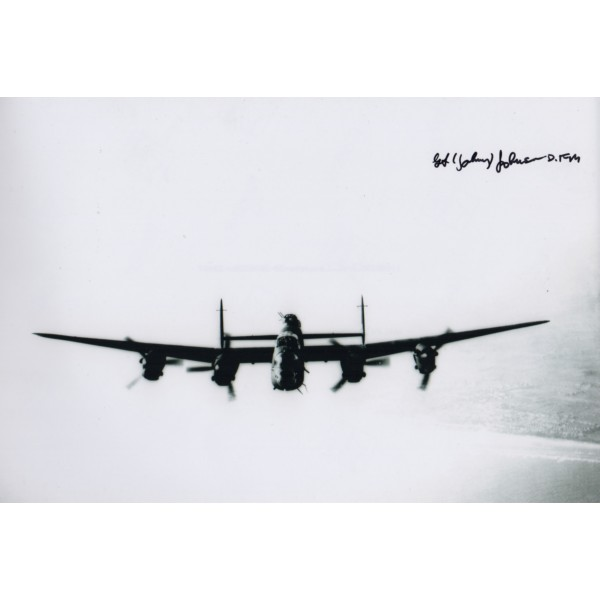 WW2 George Johnny Johnson signed autograph photo Dam Busters