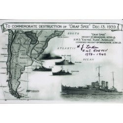 WW2 Jack London Graf Spee Exeter genuine signed autograph photo 4