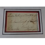 Lord Palmerston Prime Minister genuine authentic signed Free Front photo display