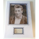 Harold Larwood Cricket signed authentic genuine signature autograph